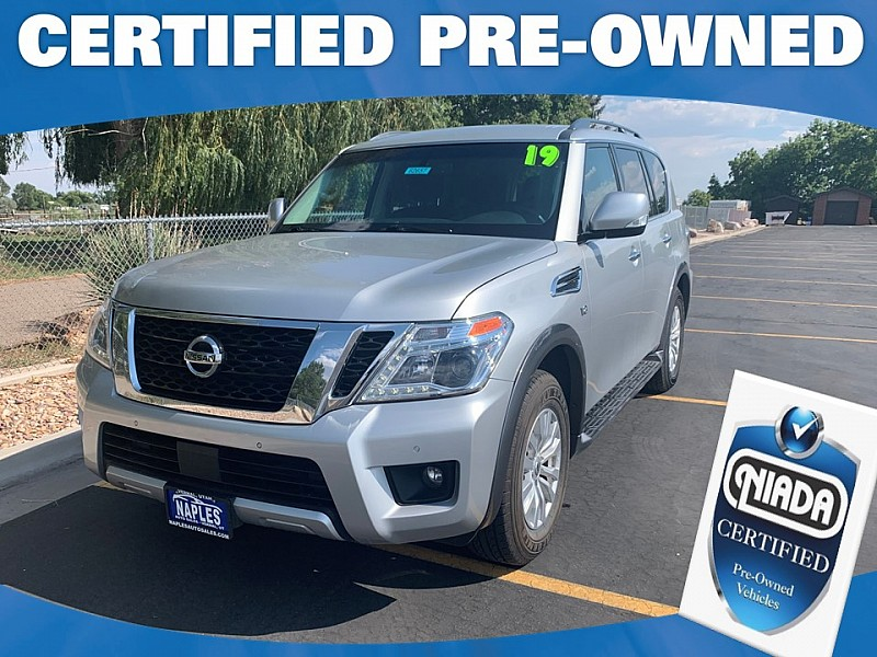 Used 2019  Nissan Armada 4d SUV AWD SV at Naples Auto Sales near Vernal, UT